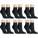 RS. Harmony   Kurze Socken mit Rollrand für Damen   6 Paar   schwarz   39-42