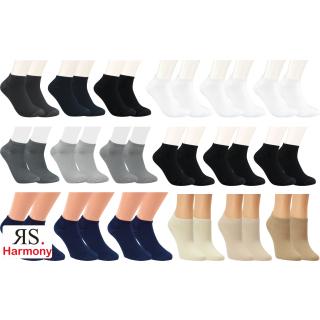 "RS. Harmony | Sneaker-Socken ""Bambus Uni-Farben"" für Damen & Herren"