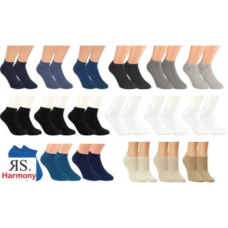 "RS. Harmony | Sneaker-Socken ""Uni-Farben"" für Damen & Herren"