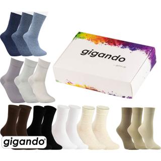 gigando Premium   Socken Uni-Farben für Damen