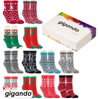 """gigando Premium   Thermo Strumpf """"Weihnachtszeit"""""""