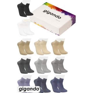 gigando Premium | Kurz-Strumpf Quarter-Socks für Herren