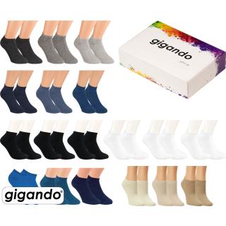 "gigando Premium   Sneaker-Socken ""Uni-Farben"" für Damen & Herren"