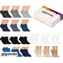 "gigando Premium | Sneaker-Socken ""Uni-Farben""..."