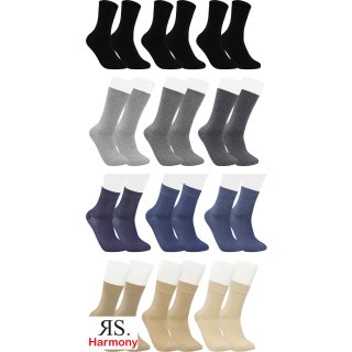 "RS. Harmony   Kurzstrumpf Quarter-Socks ""Uni-Farben"" für Herren"