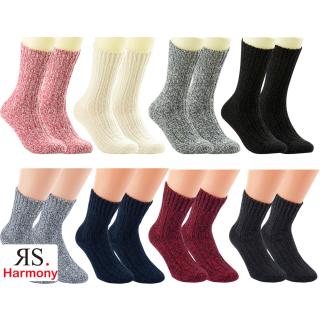 "RS. Harmony   Woll-Strumpf ""Norweger-Socken"" für Damen & Herren"