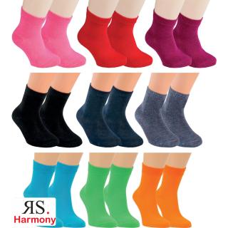 """RS. Harmony   Kinder-Socken """"Uni-Farben"""" für Damen & Herren"""