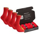 gigando  | colorful Baumwoll-Socken  | 4 Paar  | rot  |...
