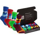 gigando  | karo Baumwoll-Socken  | 4 Paar  | grün,...