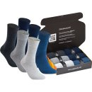 gigando  | Jeans & Grey Cotton Socks for Men  | 6 Paar  |...