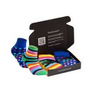 gigando  | Colored Thermo Socks with Dots and Stripes  |...