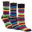 gigando  | Striped Colorful Bamboo Socks for Ladys  | 3...