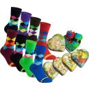 "gigando Premium | Socken ""Karo"" in buntem Herz..."