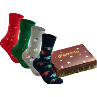 gigando Premium | Wintertime Baumwoll Socken für Sie & Ihn
