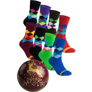 """gigando Premium   Socken """"Karo"""" in Christbaumkugel   Geschenkbox"""